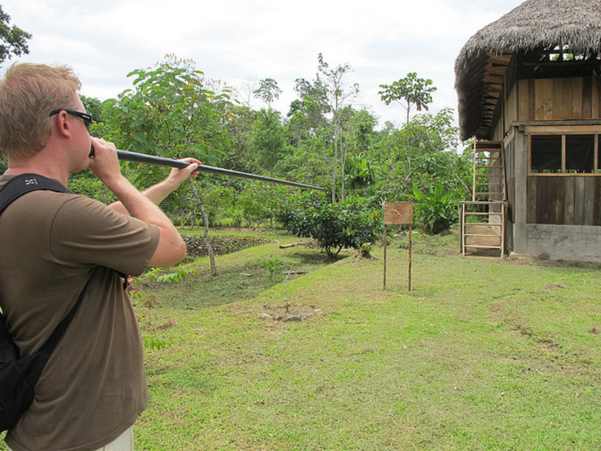 It is always good to practice with your blowgun.