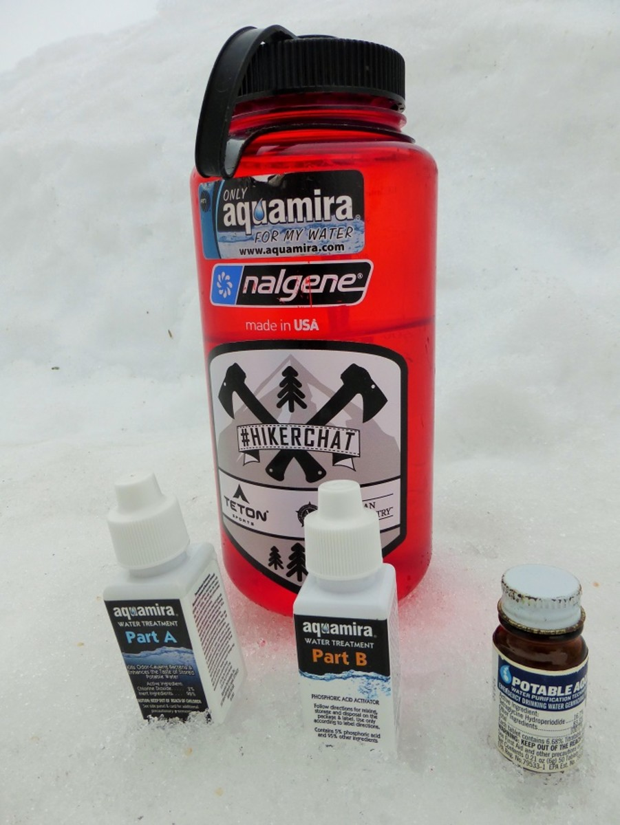 Chemical water purification is one of the more reliable ways to treat water during the winter.