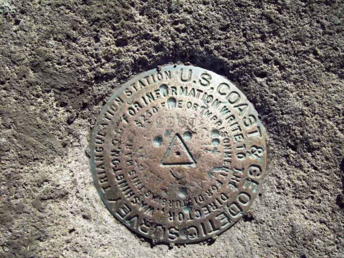 The triangulation marker proves you have visited the summit of Max Patch.