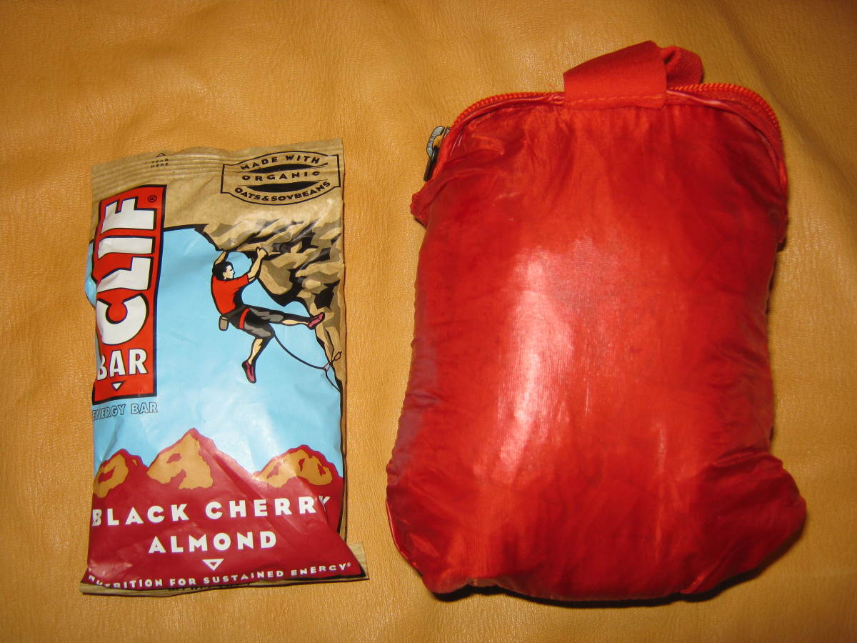 The North Face Verto folded up in its pocket pouch is about the size of an energy bar.