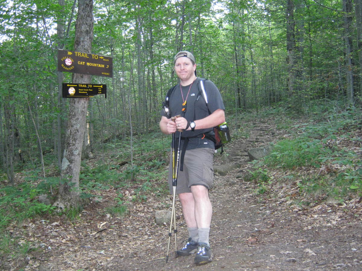 A solo trip on the Cranberry Lake 50 trail - I didn't see any other hikers on this trip.  Notice the lack of a gigantic pack.  Lightweight backpacking techniques are imperative for solo hikers.