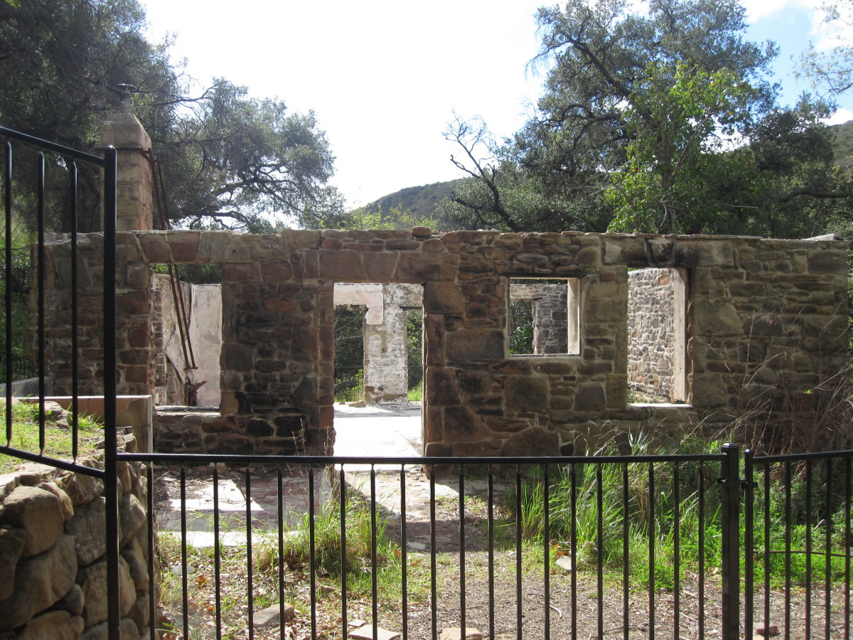 Ruins of the Keller hunting cabin