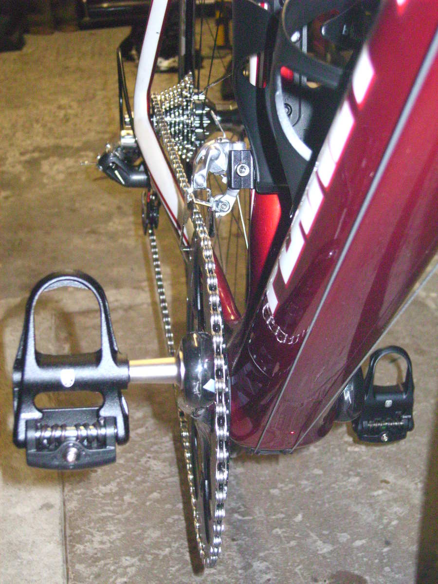 A view of the Sram Red Drivechain on the Planet X RT-57