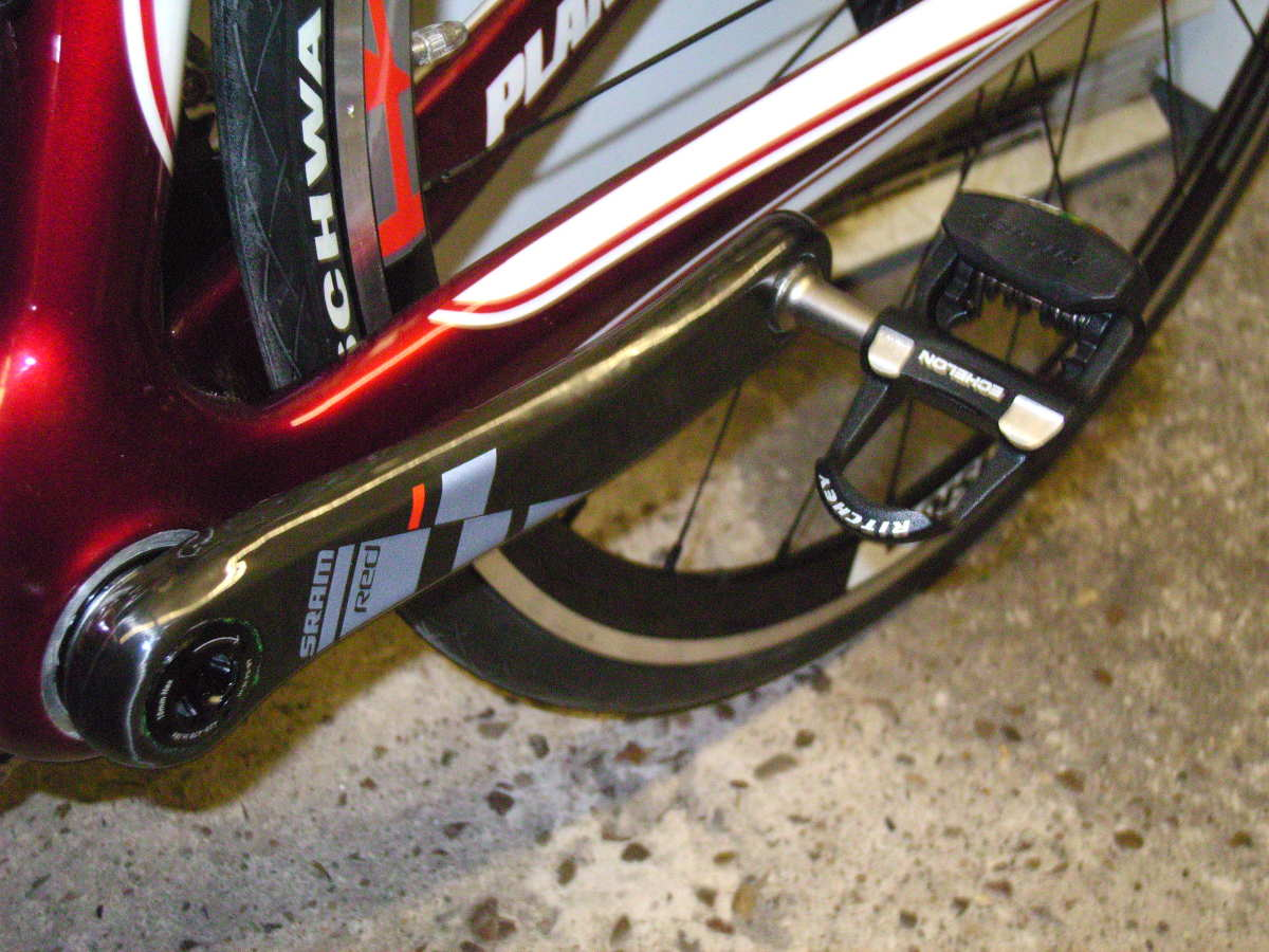 Ritchey WCS Echelon V2 Road Pedals on Sram Red Cranks fitted to Planet X RT-57