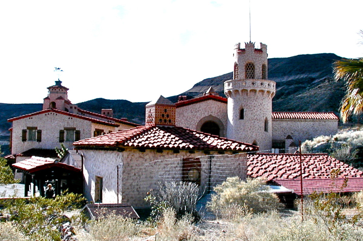 Scotty's Castle is a fairy-tale house complete with towers.