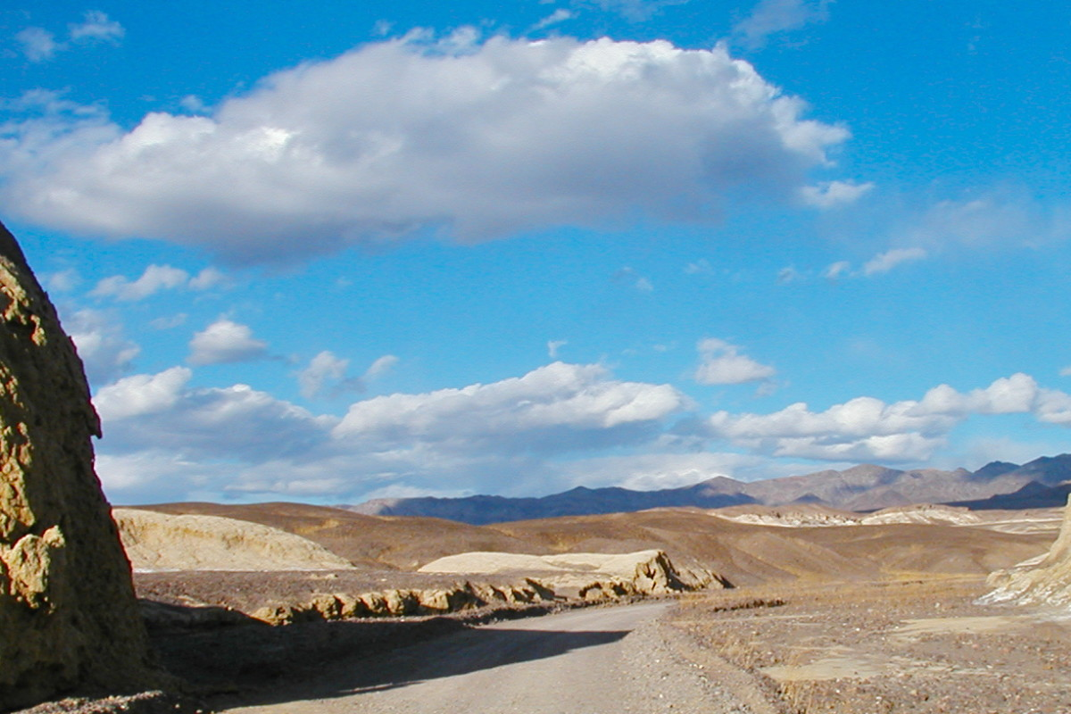 A typical view of Death Valley.