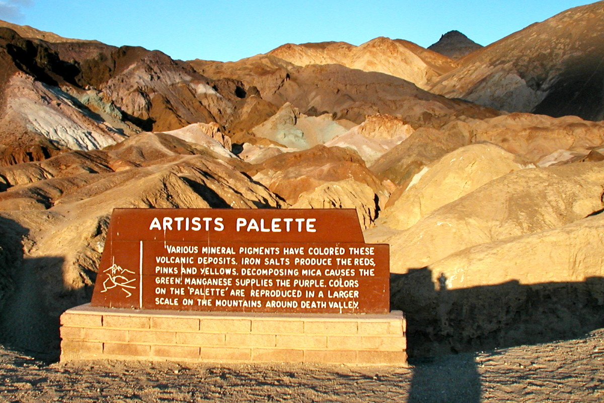 View of Artist's Palette from parking area