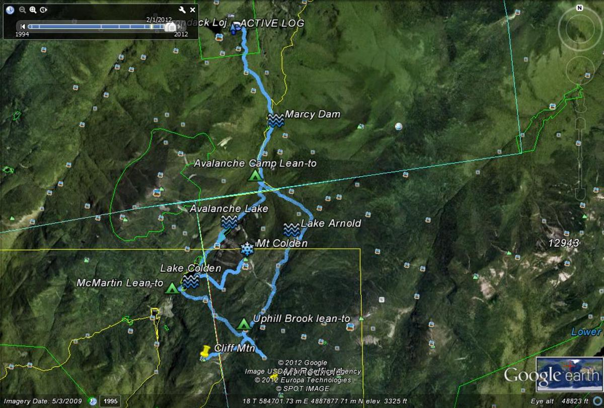 I downloaded the tracks from this trip from my Gramin Map60 CSX GPS into Google Earth.