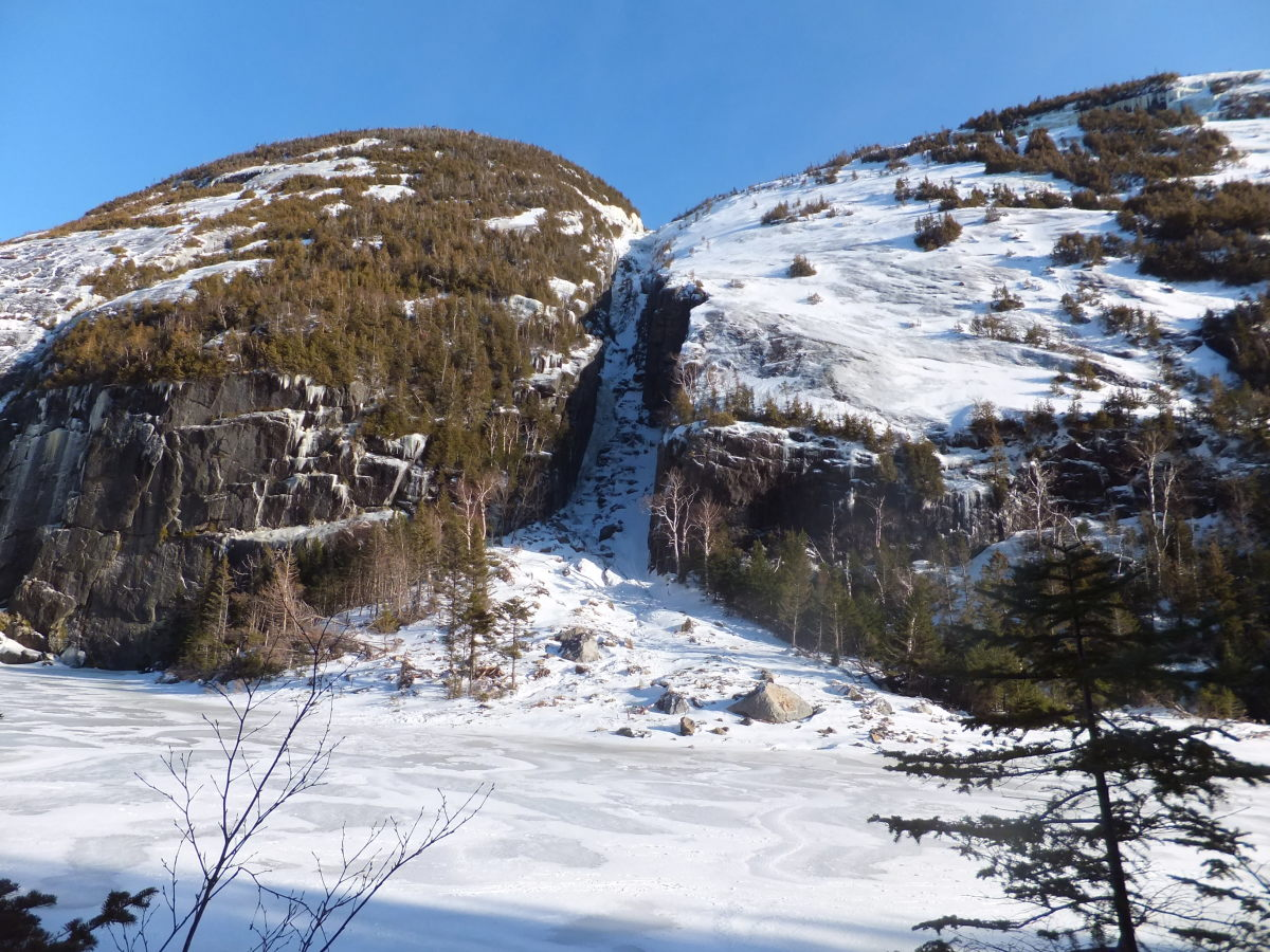 The Trap Dike as seen across Avalanche Lake.