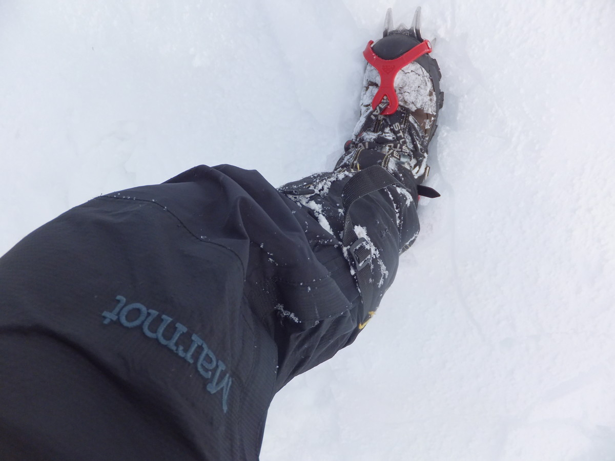 When it became really icy, I switched out of my Tubbs Mountaineer snowshoes and into my Stubai crampons.