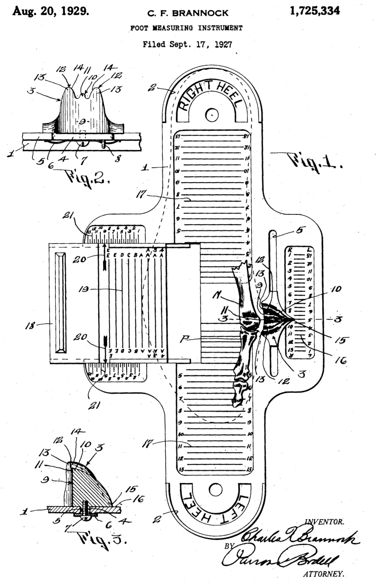 The Brannock device is a staple in most boot stores.