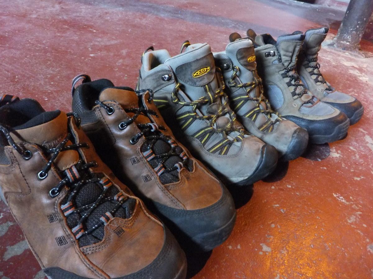 Midweight hiking boots: Danner Zig-Zag, Keen Red Rock, Danner Agitator.