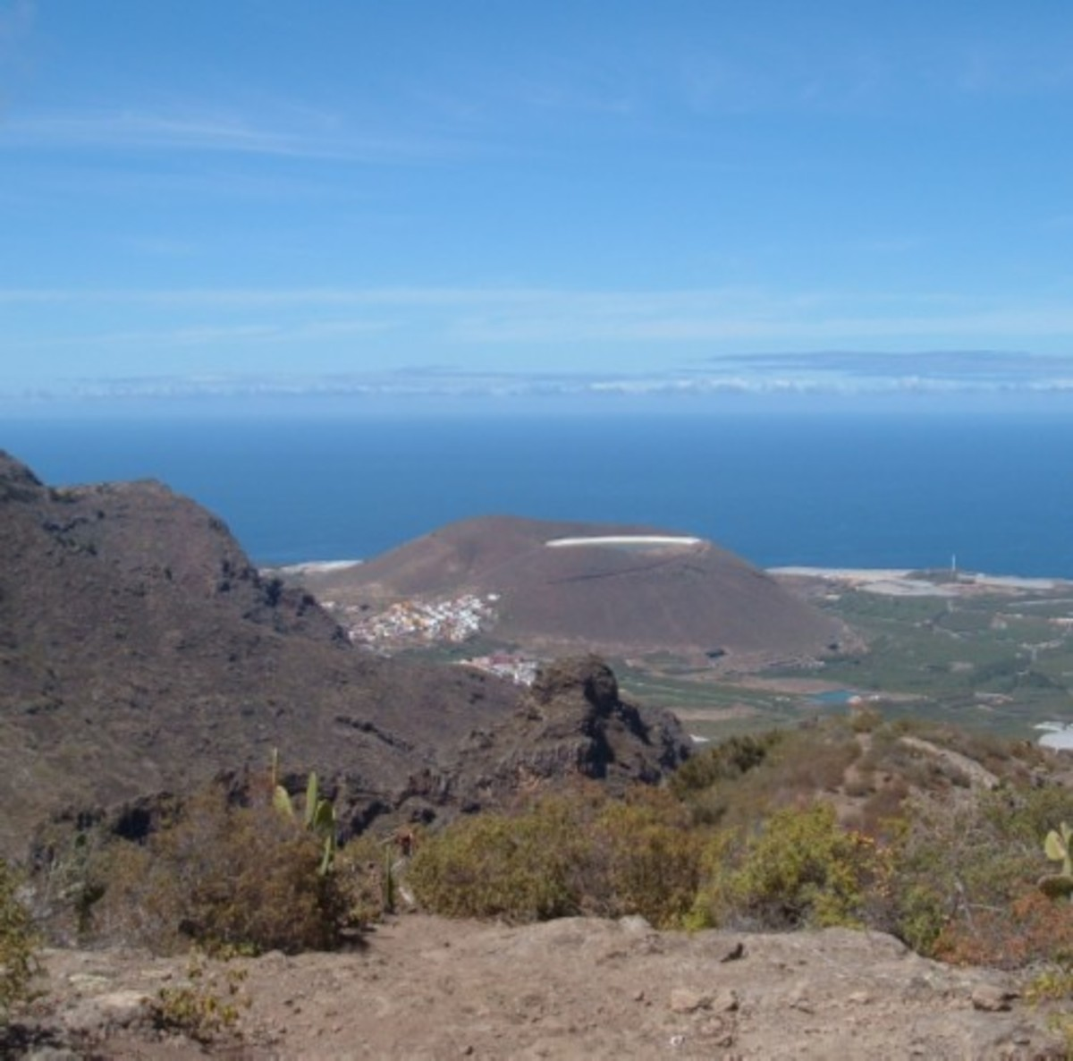 View over Los Silos and the coast from Cuevas Negras. Photo by Steve Andrews