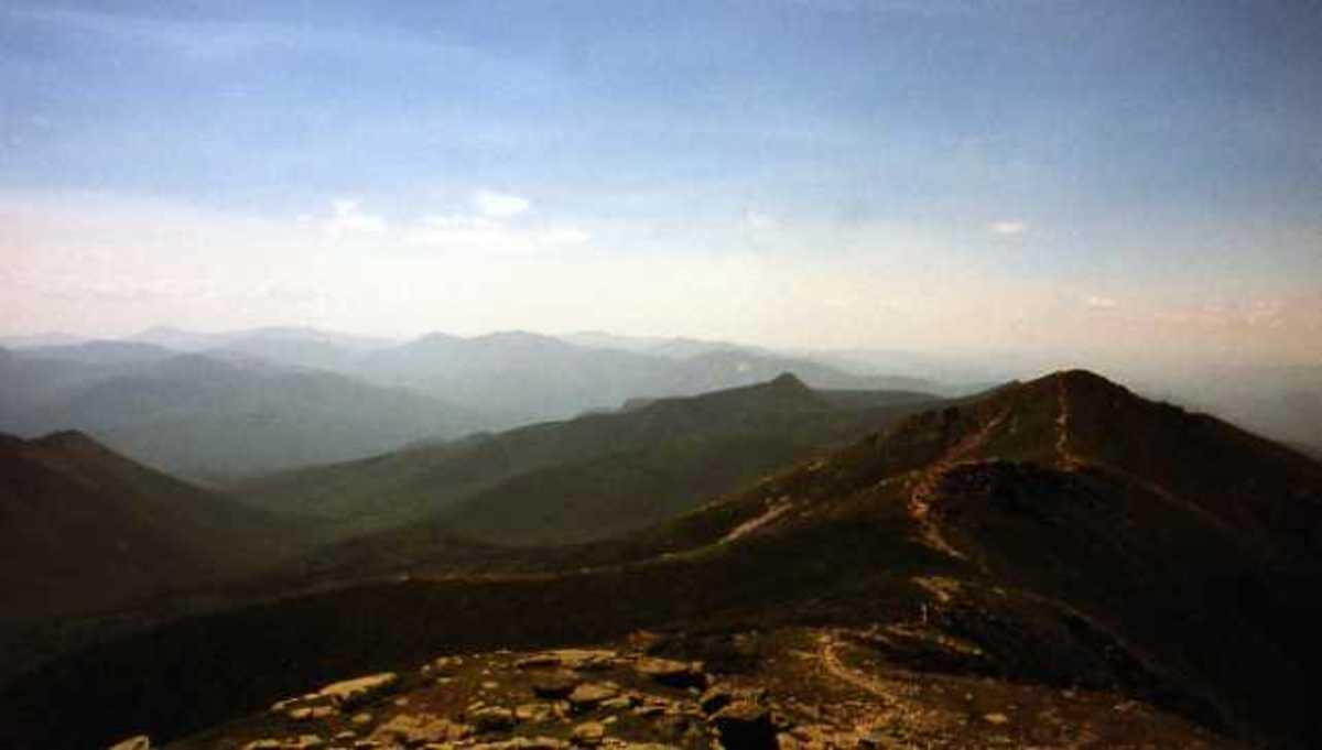 Franconia Ridge in the White Mountains.