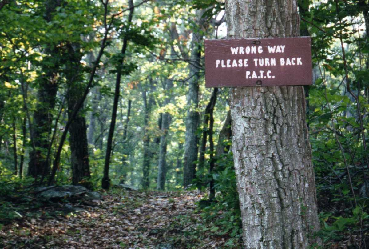 Don't worry about going the wrong way on the Appalachian Trail - it is pretty well marked.