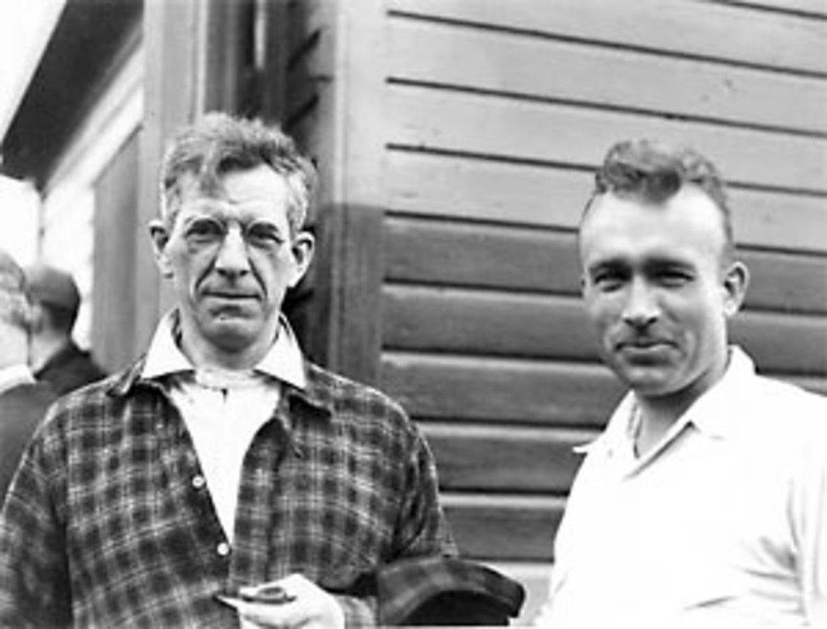 Benton MacKaye and Myron Avery - Appalachian Trail pioneers.
