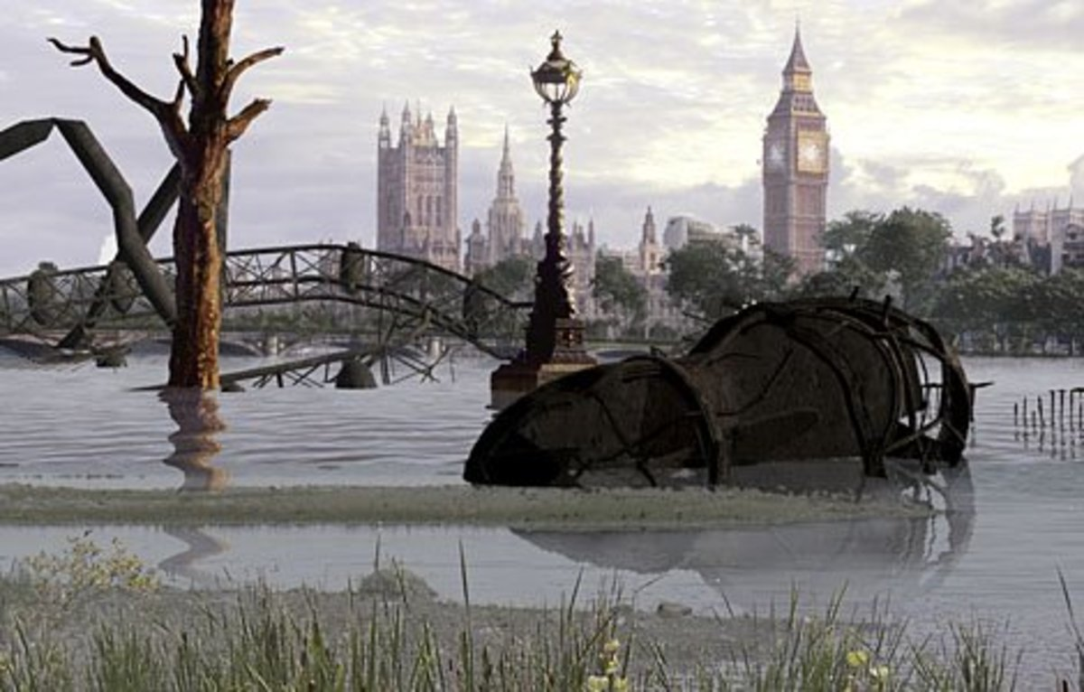 London will revert back to the marshland it was when the Romans first settled the area.