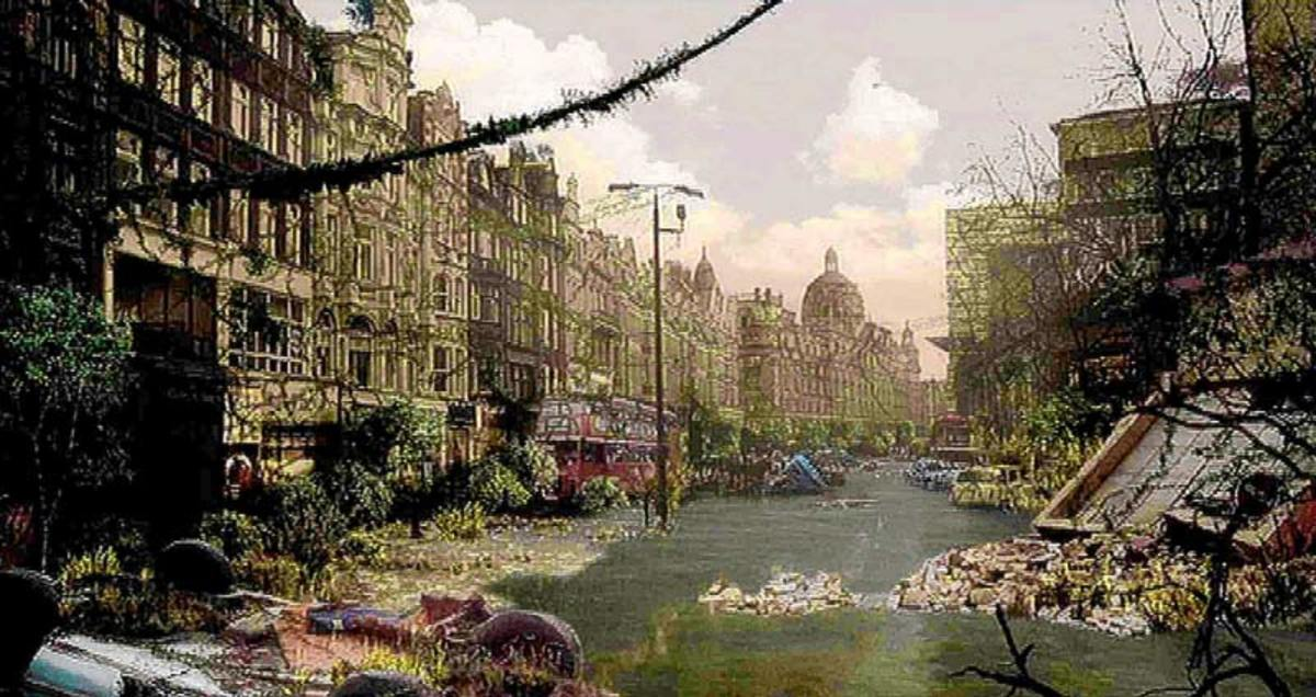 The Harrods store in London becomes flooded after the Thames defences fail, causing it to burst its banks.