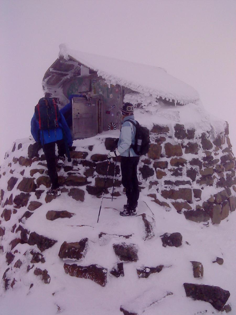 Ben Nevis summit refuge.