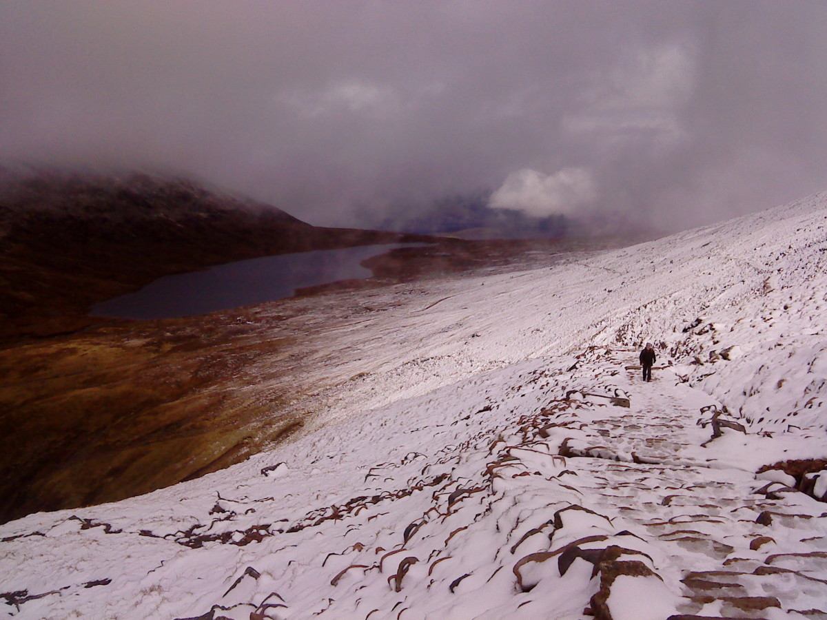 The lochan Meall an t Suidhe at 2000 feet.