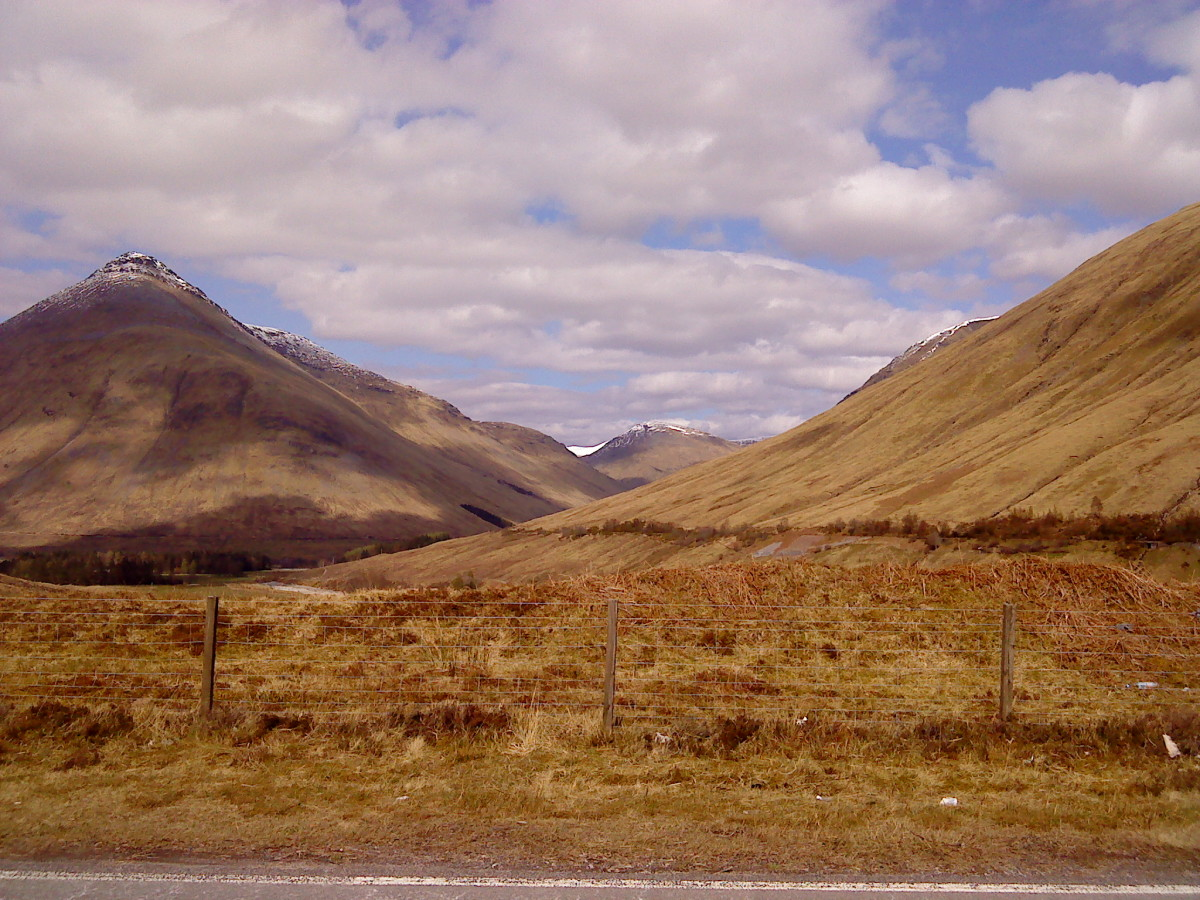 Passing through Glencoe on the road up to Fort William.