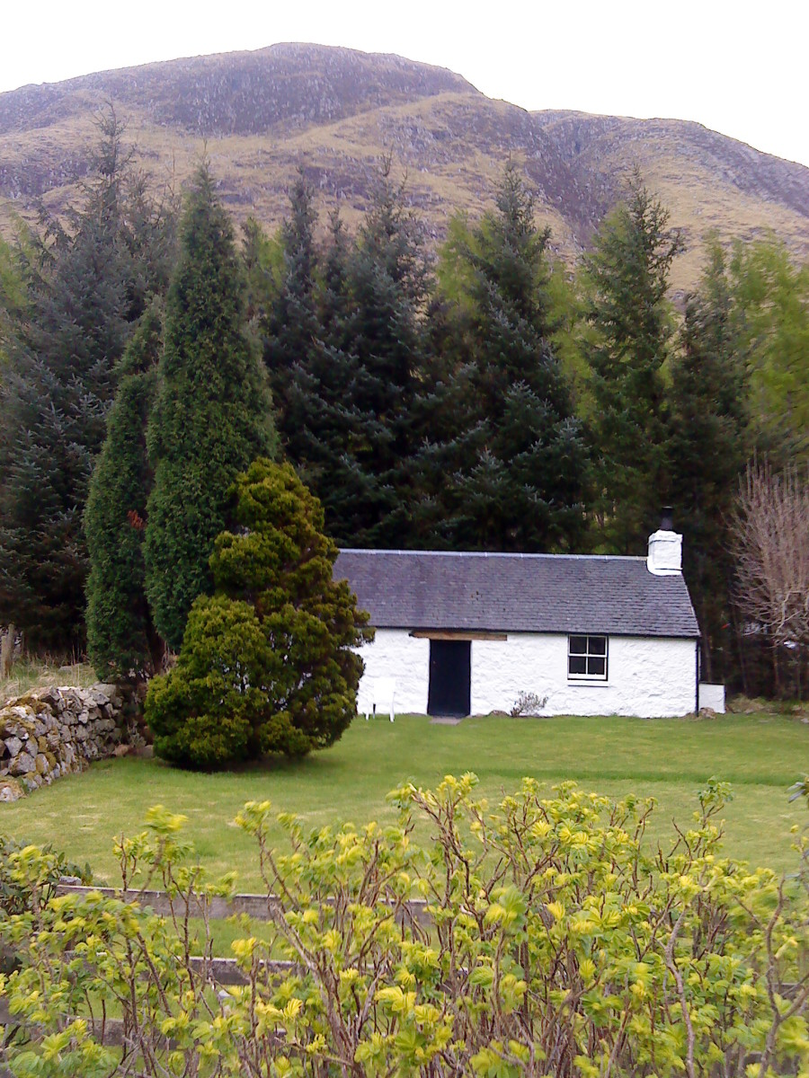 Secluded cottage in Glen Nevis.