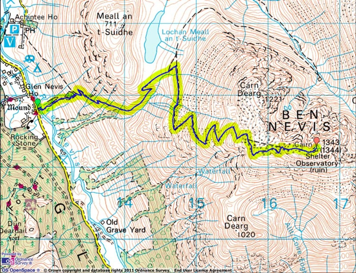 Ben Nevis Map