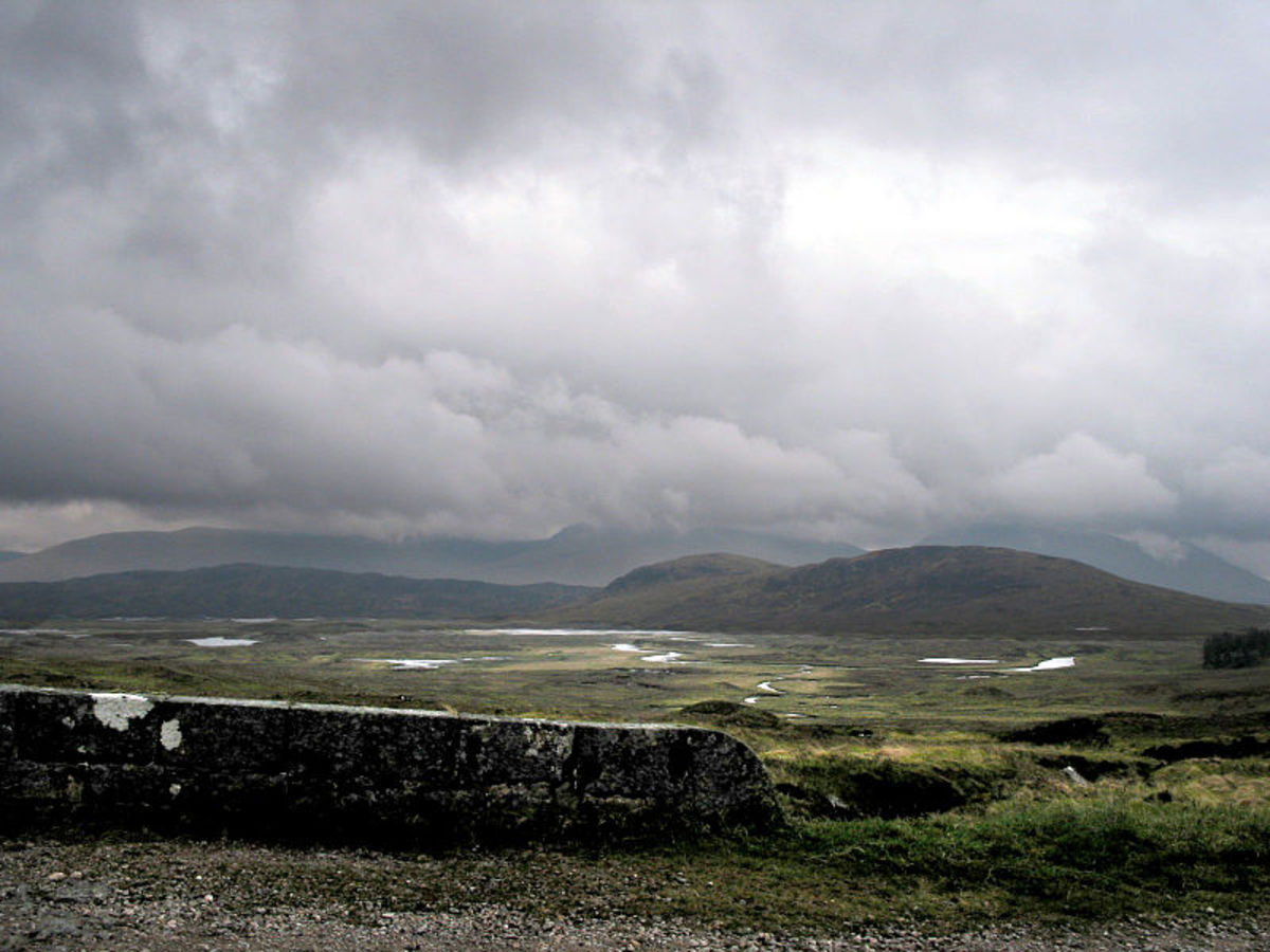 Rannoch Moor, a lonely place.