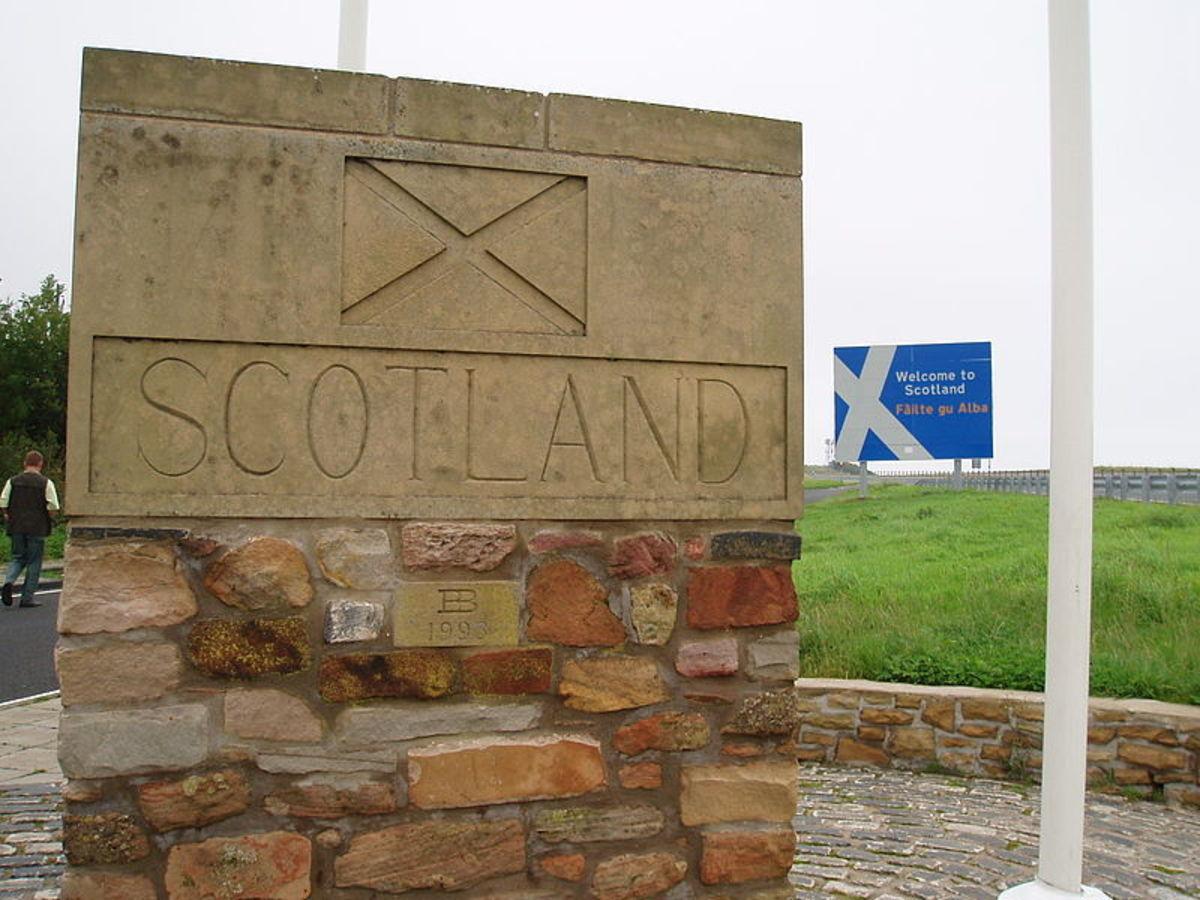 England-Scotland border.