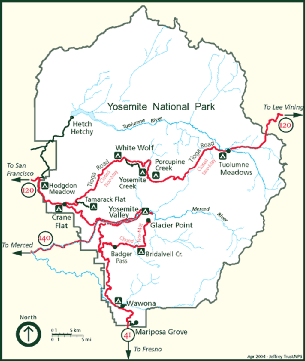 Yosemite National Park is a popular backpacking destination, just make sure you pack your food in an approved bear safe container.