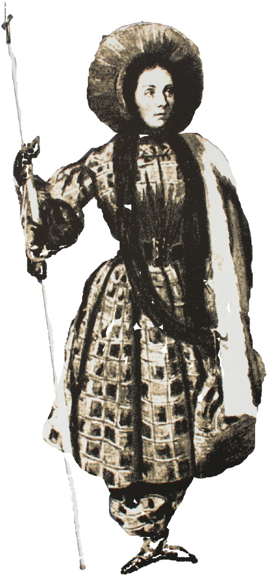 Henriette d'Angeville, wearing 14 lbs of clothes