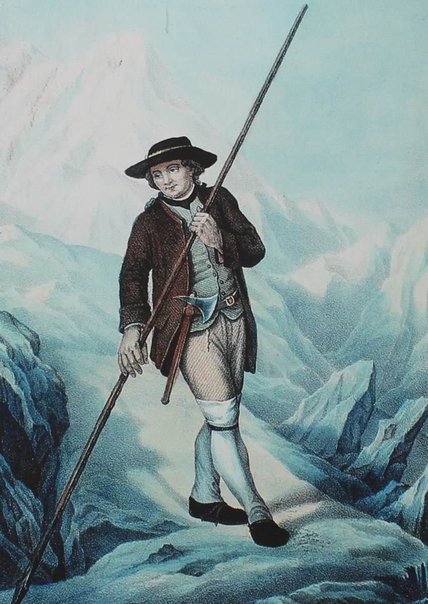 Jacques Balmat, the first man to scale Mont Blanc and Marie Paradis' friend and guide.