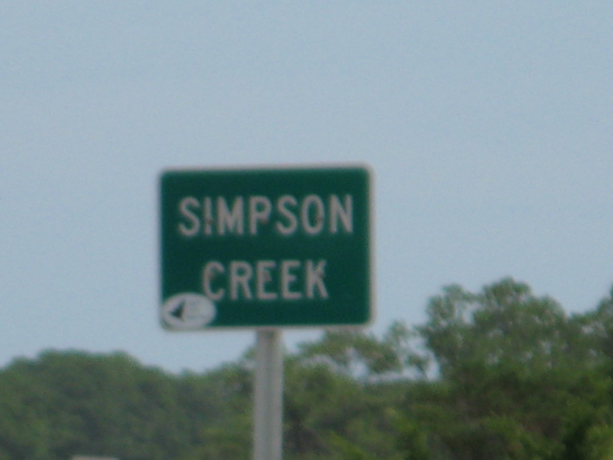 Simpson Creek is on First Coast Highway.