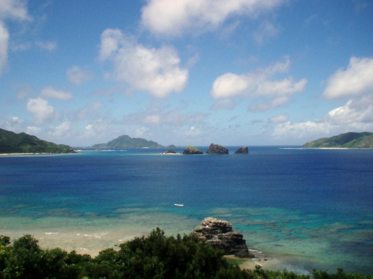 A Spearfishing location off the coast of Okinawa, Japan