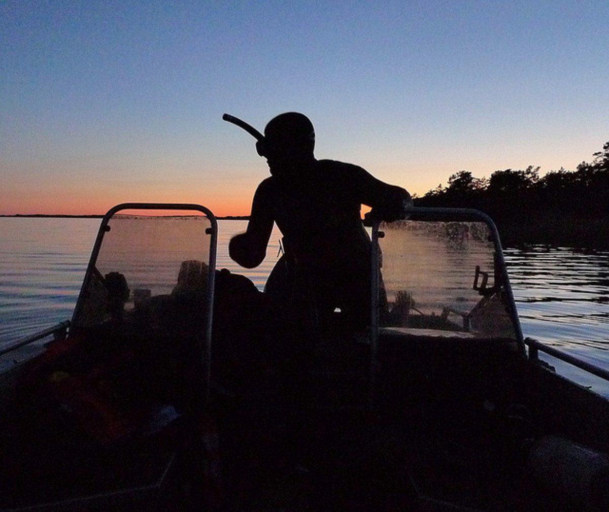 Preparing for a night spearfishing adventure