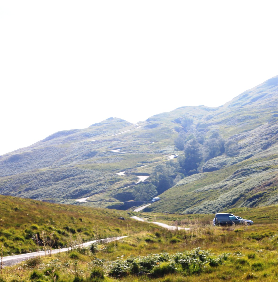 Hardknott Pass viewed from the Cockley Beck side. Arguably the hardest cycling climb in the Lake District and England