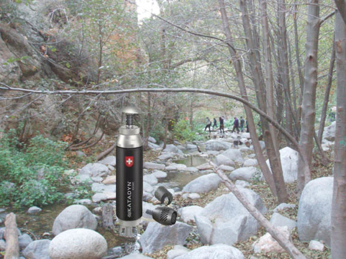 Microfilters are great for taking on long hikes where water quality is uncertain.