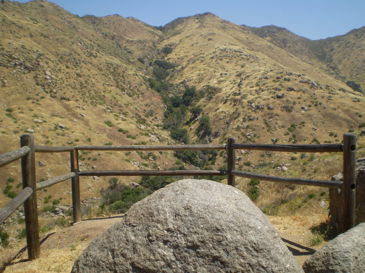 Trailhead at Clevenger Canyon along Route 78.