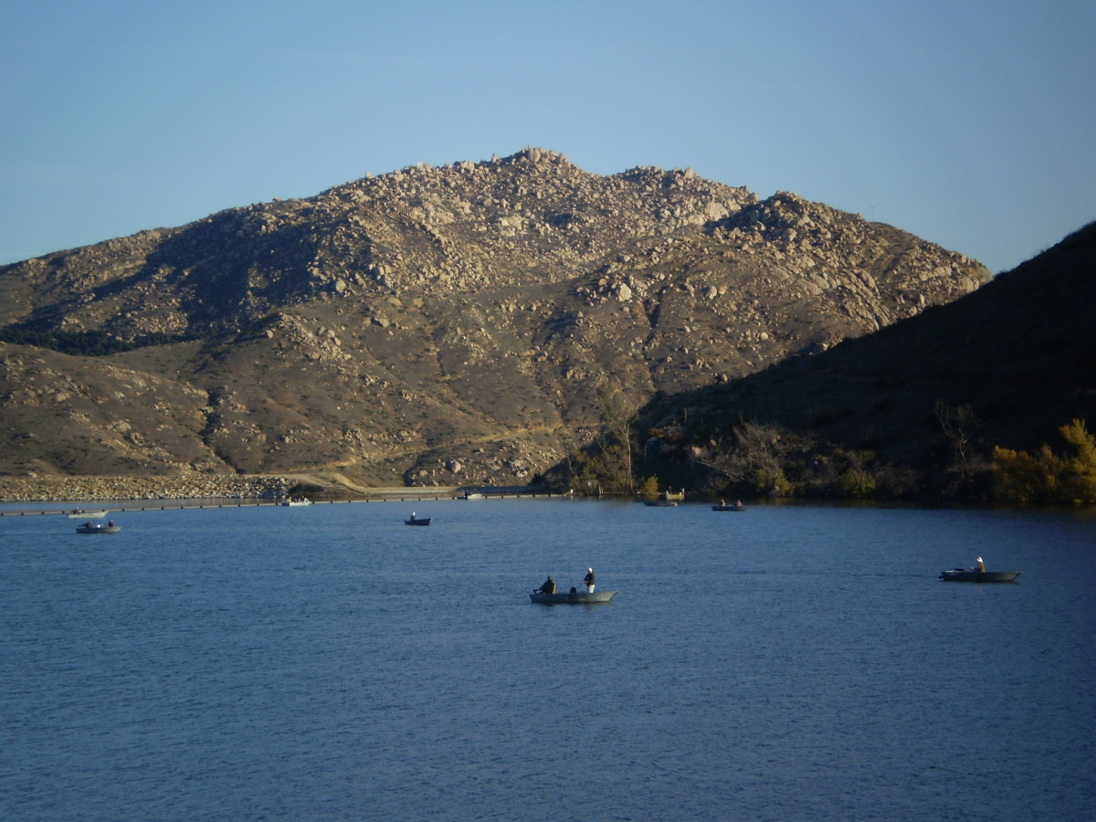 View from Lake Poway along the trail to Mount Woodson.