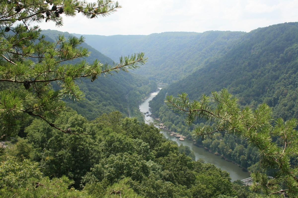 A mountain hiker's view of the Gauley River in WV.