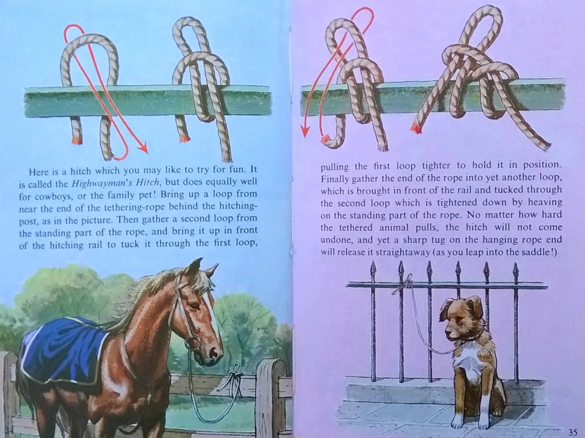 "From the Ladybird book ""Learnabout... Knots"""