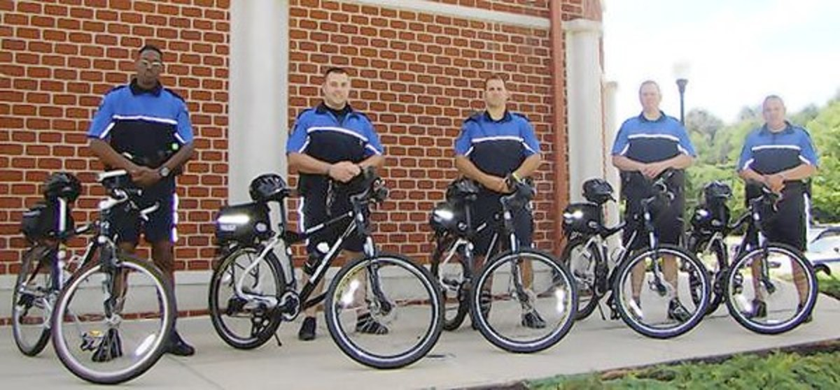 Police On Smith And Wesson Police Mountain Bicycles