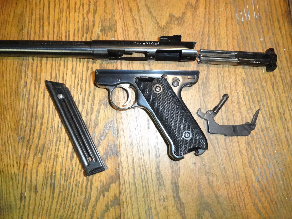 Field Stripped Ruger MK II