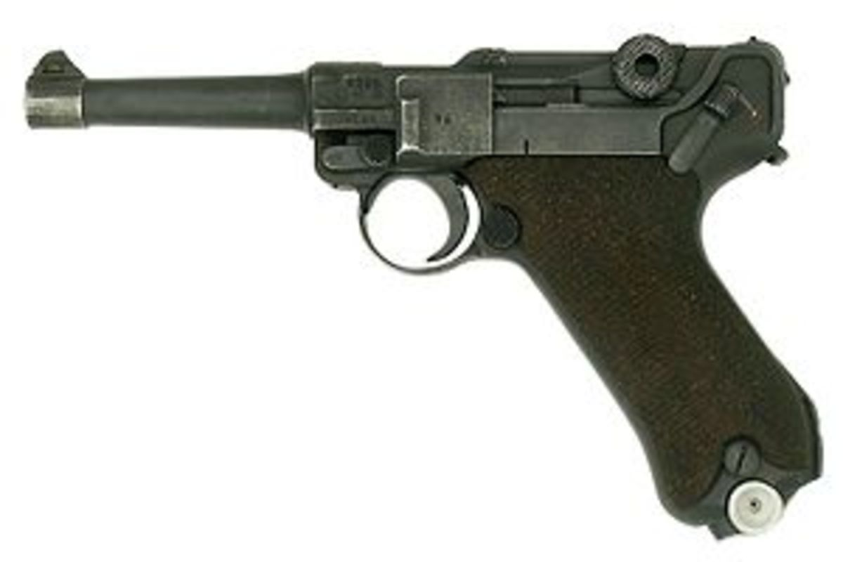 "The Ruger's spiritual ancestor, the Luger P-08. Some people back in the day even called the Ruger standard the ""Ruger Luger."""