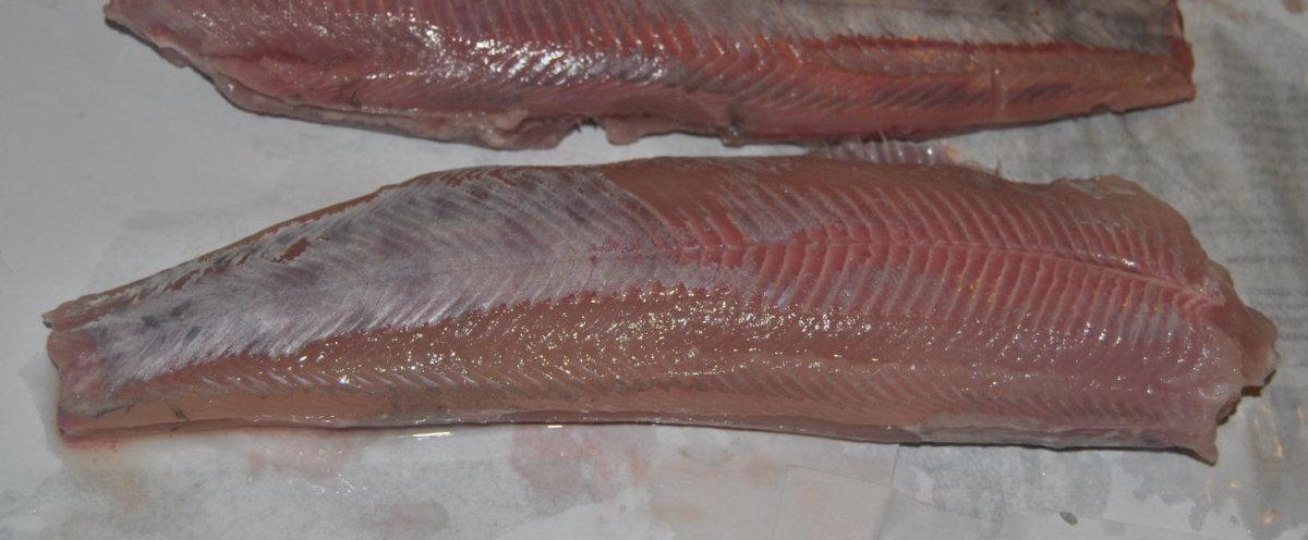 Skinned fish