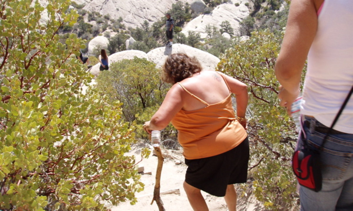 Be courteous of other hikers. Some may not be as agile as you are.