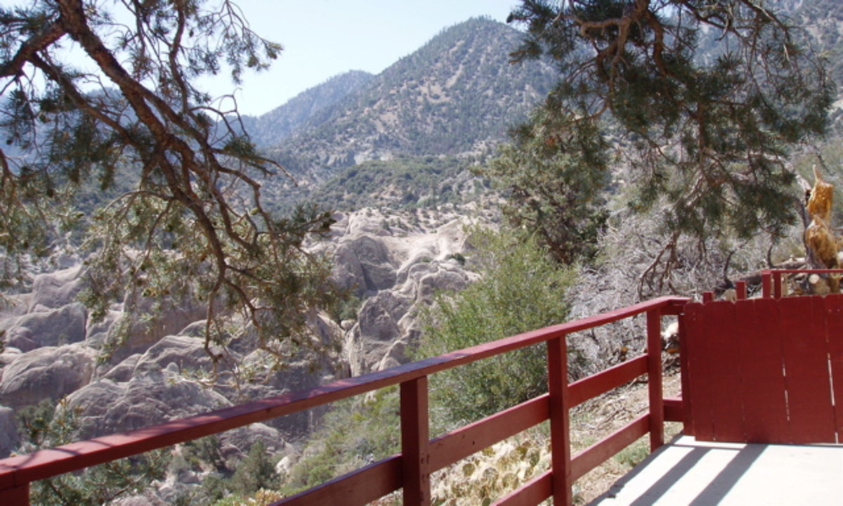 Looking over the Punchbowl from the back deck of the sanctuary.