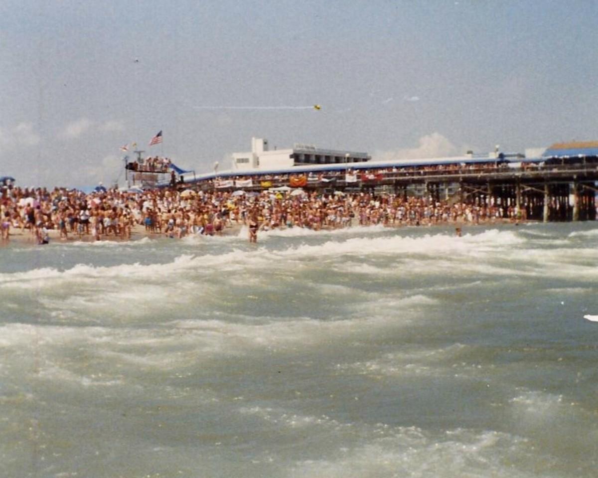 A popular beach for spring break.