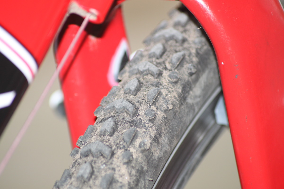 Using a cyclocross bike for touring allows for awesome tire clearance