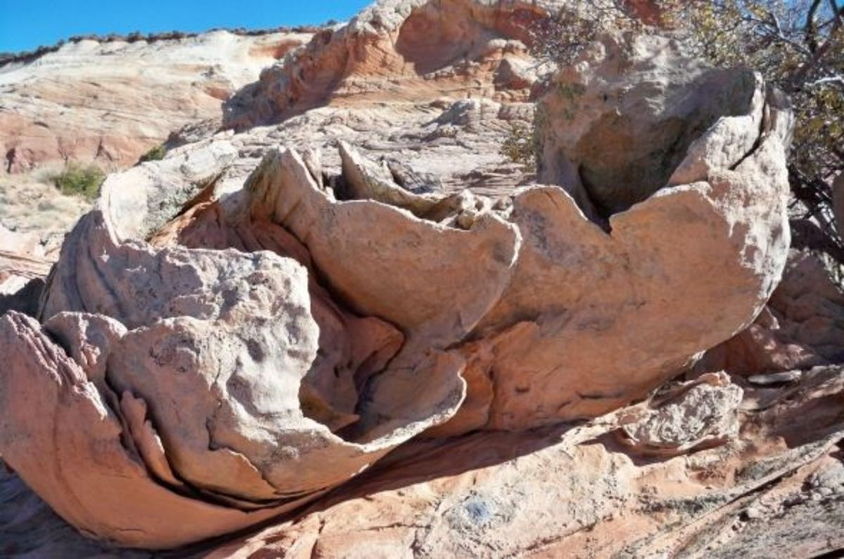 I have dozens of pictures of strange rocks like these....